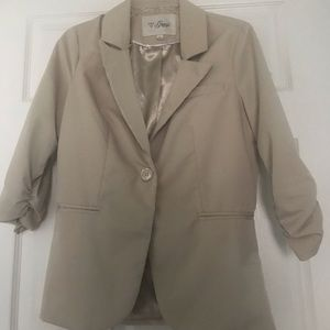 Casual khaki blazer